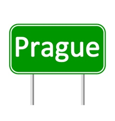 Prague road sign vector