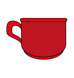 red cup cartoon vector image