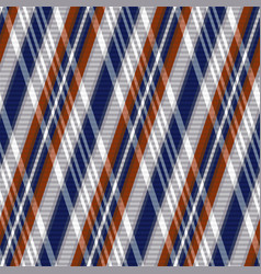 Rhombic tartan seamless texture in blue grey and vector