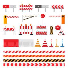 Road barrier street traffic-barrier warning vector