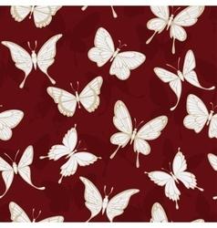 Seamless patterns with butterflies vector