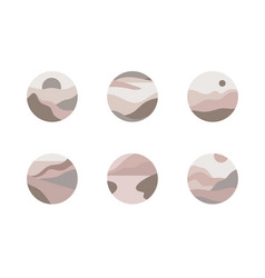Set icon landscapes nature earth vector