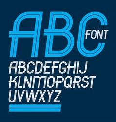Set of delicate slim upper case english alphabet vector