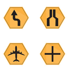 set of transit signals vector image