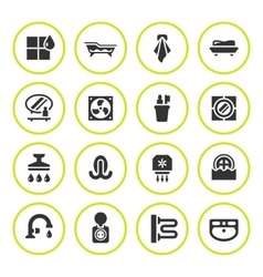Set round icons of bathroom vector image