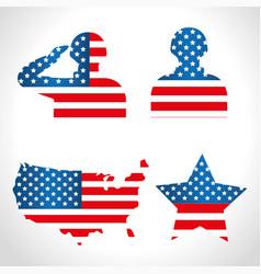 Silhouette for day veterans war vector
