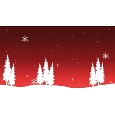 Silhouette of Chrismas spruce vector
