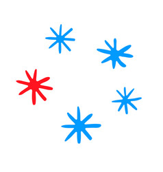 snowflake set snow on a transparent background vector image