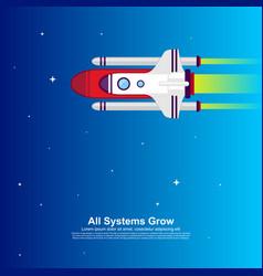 startup simple rocket web design responsive web vector image