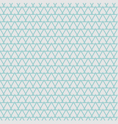 tile pattern with mint blue triangles on grey vector image