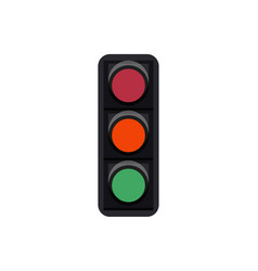 Traffic light sign isolated on white vector