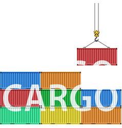 transportation of cargo vector image