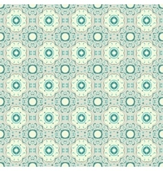 Turquoise ceramic pattern vector image