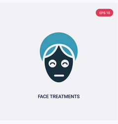 Two color face treatments icon from user concept vector