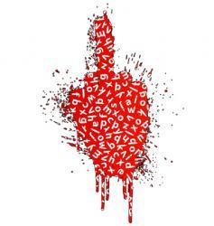 vulgar words gesture design element vector image vector image
