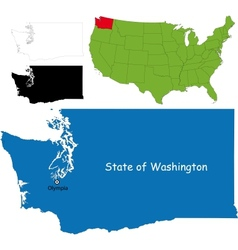 Washington map vector image