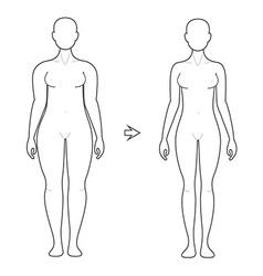 Weight Loss Art vector image