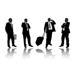 businessmen silhouettes vector image vector image