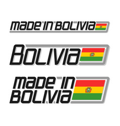made in bolivia vector image vector image