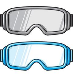 Ski Sport Goggles Icon Set vector image vector image