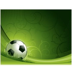 soccer background concept vector image