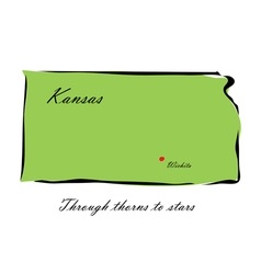 State of kansas vector