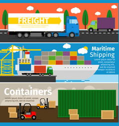 transportation of goods and delivery by trucks vector image