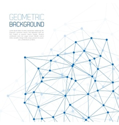 Blue molecule and communication background vector
