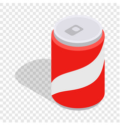 carbonated drink isometric icon vector image