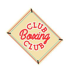 color vintage boxing club emblem vector image vector image