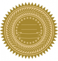 Gold wreath seal vector