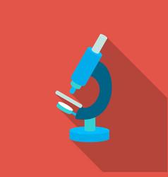 Microscope icon flat single medicine icon from vector
