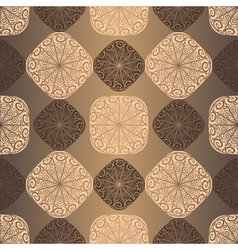Seamless vintage brown pattern vector image vector image