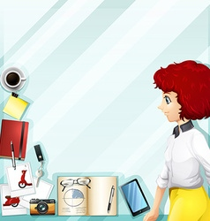 Working woman and other accessories vector image vector image