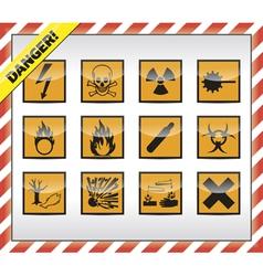 Danger symbols vector