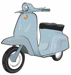 scooter illustration vector image vector image