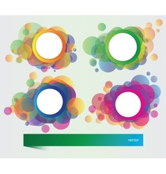 Set of banners with elements vector image