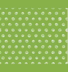 swirls on greenery background seamless pattern vector image vector image
