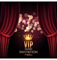 Vip invitation luxury poster design golden word vector