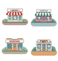 Flower shop laundry barber bakery newsstand vector image vector image