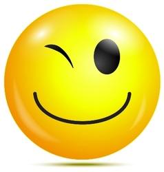 Happy smiley emoticon vector