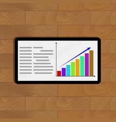 positive statistics on tablet vector image