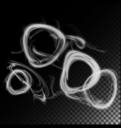 realistic cigarette smoke waves set of vector image