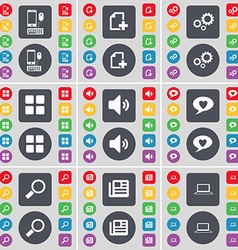 Smartphone File Gear Apps Sound Chat bubble vector image vector image