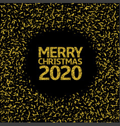 2020 merry christmas background vector image