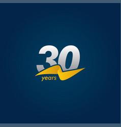 30 years anniversary celebration white blue vector