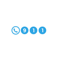 911 call icon design template isolated vector image