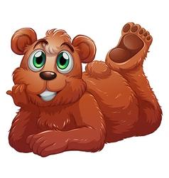 a smiling bear vector image
