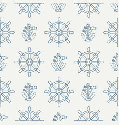 Abstract nautical seamless background pattern with vector