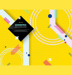 abstract of geometric pattern on yellow step vector image